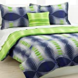 Victoria Classic Conner 3 Piece Twin/XL Comforter Bed In A Bag Set Navy/Green