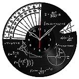 Math Themes Clock Record Wall Clock Fan Art Handmade Decor Unique Decorative Vinyl Clock12″ (30 cm) #1