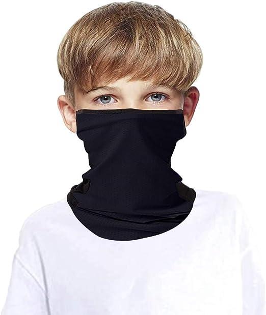 DWTao Children Ear Hangers Face Cover UV Protection Neck Gaiter for Boys Girls Outdoor