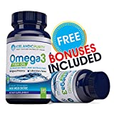 Omega 3 Fish Oil Dietary Supplements for Maximum Heart, joint and Brain Health (180 Soft-gels)