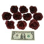 TheBridesBouquet-Burgundy-Rose-Heads-Decoration-Flower-10-Piece