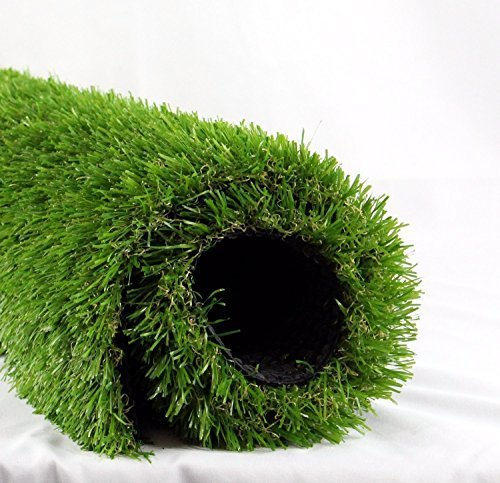 ALTRUISTIC 5FT X 10FT Premium Artificial Drainage Holes & Rubber Backing Synthetic Mat Soft Pet Turf Fake Grass for Dogs or Outdoor Decor, 5' X 10', Green