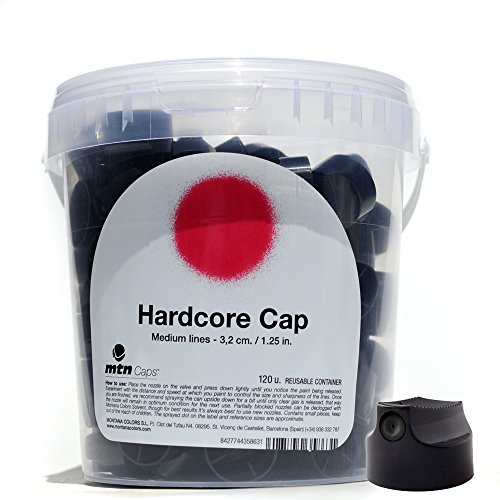 MTN Caps Bucket of 120 Spray Paint Graffiti Art Nozzles (Hardcore Cap)