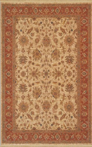 Karastan Antique Legends Villa Veneto Ivory Rug, 5-Feet 9-Inch by 9-Feet