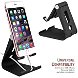 Cell Phone Stand, Aerctor iPhone Stand : Desktop Cradle, Dock For Switch, all Android Smartphone, iPhone 6 6s 7 8 X Plus 5 5s 5c charging, Universal Accessories Desk(Plastic style) - Black