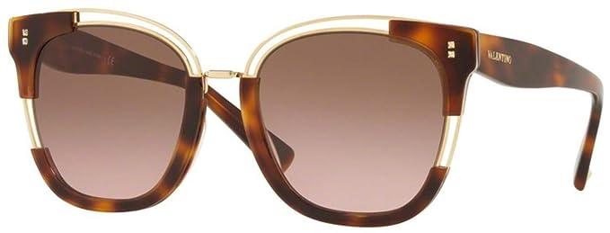 Valentino Gafas de Sol VA 4042 Havana/Brown Shaded Mujer ...