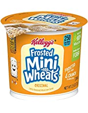 Kellogg's Frosted Mini-Wheats Little Bites, Breakfast Cereal in a Cup, Chocolate, Low Fat, Excellent Source of Fiber, Bulk Size, 96 Count (Pack of 96, 1 oz Cups)