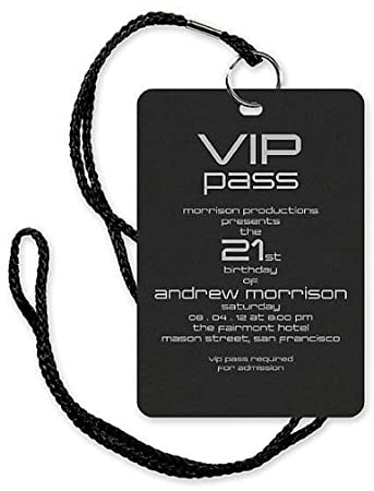 Amazon Com Vip Pass Invitation With Lanyard By Checkerboard Health