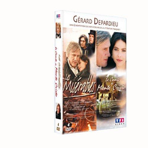 Gérard Depardieu - Coffret - Les misérables + Le Comte de Monte Cristo