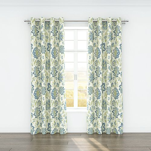 Stylemaster Home Products Colorfly Bella Grommet Panel Pair, 2 by 54 by 84-Inch, Cerulean by Style Master