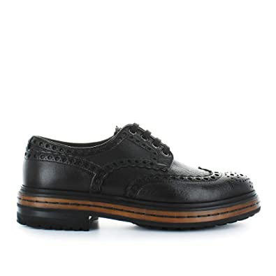 dcb9dcfac3145b Santoni Chaussures Homme Chaussures À Lacets Derby Cuir Marron  Automne-Hiver 2019