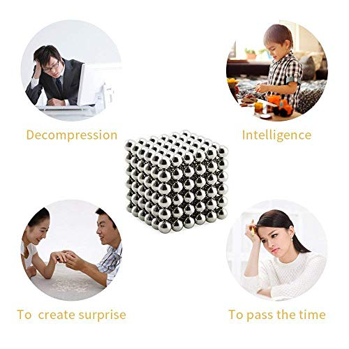 ROHSCE Magic Building Ball Toys, Educational Stacking Toys, Creative Stress Relief Desk Toy Construction 3D Puzzle Toy for Adults/Kids-Silver (4 Set Silver+ 4 Set Gold, 8 Set 1728pcs) by ROHSCE (Image #8)