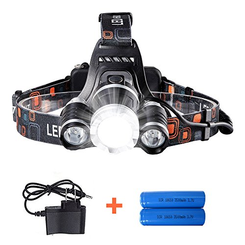 Led 4 Mode Headlamp Light Torch Camping Flashlight - 7