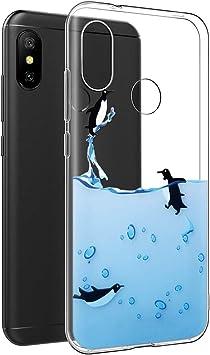 Funda Xiaomi Mi A2 Lite, Eouine Cárcasa Silicona 3D Transparente ...