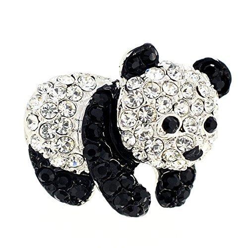 Fantasyard Crystal Panda Lapel Pin
