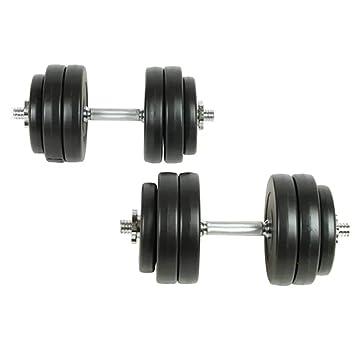 vidaXL Juego de Pesas 30kg Mancuernas Fitness Musculación ...