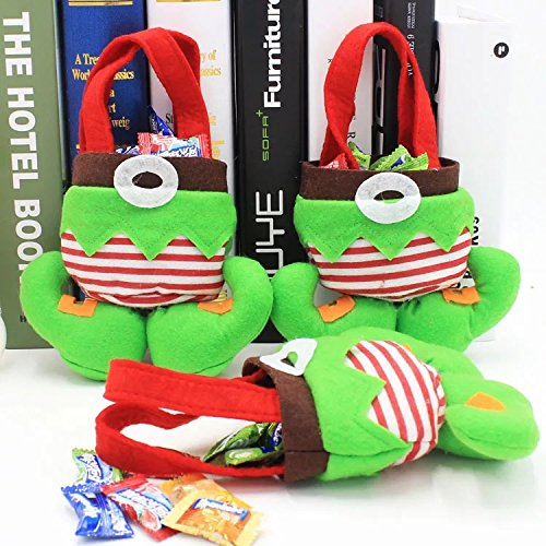 Dealzip Inc Christmas Elf Spirit Boots Shoes Candy Cookie Gift Bag Sack Stocking Filler Xmas Party Decoration Sack-Pack of 6
