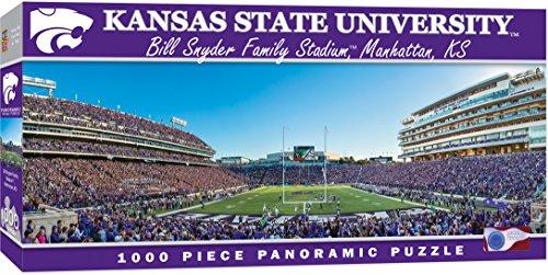 MasterPieces Collegiate Kansas State Wildcats 1000 Piece Stadium Panoramic Jigsaw Puzzle