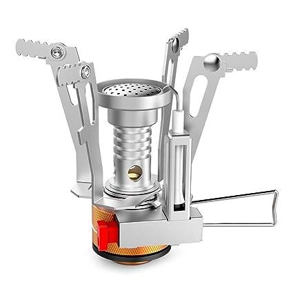 Mini Estufa de Gas para Acampar - Estufa portátil a Prueba de Viento para mochileros,