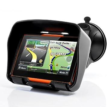 GPS para moto, sistema de navegación GPS All Terrain de 4.3 pulgadas - Impermeable, memoria interna de 4 GB, Bluetooth: Amazon.es: Coche y moto