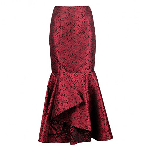 Unbekannt - Falda - para mujer Rojo