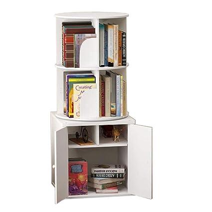 outlet store b70b2 f40a9 Amazon.com: Jcnfa-Shelves Bookcase Round Rotating Bookshelf ...