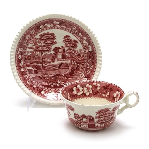 Tower Pink by Spode, China Cup & Saucer, -