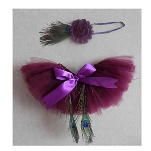 DZT1968® Baby Girl Headband Peacock Lace Tutu Skirts Costume Photo Prop Outfit for $<!--$4.59-->