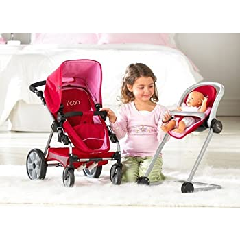 Amazon Com Hauck Doll Stroller Pram I Coo Grow With Me