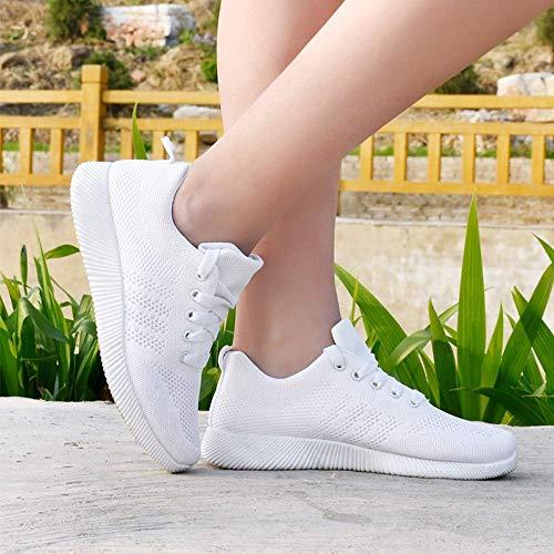 sport de Zhrui femme pour chaussures gymnastique décontracté tissu volantes sport nouvelles extérieur intérieur couleur en étudiant pour EUErq5S