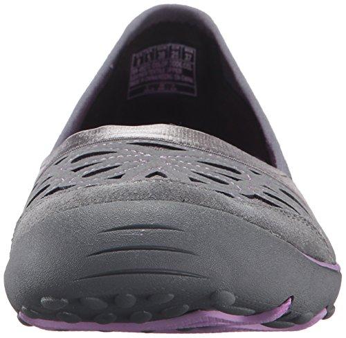 Women's Suede Lavender Skechers Trim Charcoal Earth Mesh 4FwdZ