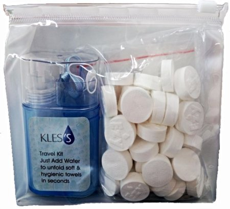 Amazon.com : KLES´s KLESs Compressed Towels, Magic Towels, Coin Tissue, Pill towels, Wipes for Sports, Travel, Beauty, Babycare (Pack of 50+ Dispenser) : ...