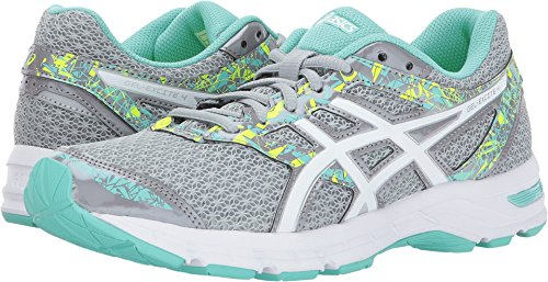 ASICS Womens Gel-Excite 4 Shoes, Size: 8 B(M) US, Color Mid Grey/White/Ice Green