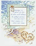 "Janlynn A Marriage Is.Counted Cross Stitch Kit-11""X14"" 14 Count"