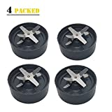 4 pc blender - JOYPARTS new 4 pcs Replacement Extractor Blade For 600W 900W Nutri Bullet Blender