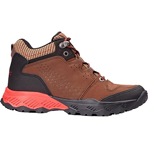 Vionic Womens Everett Mid-Top Trail Walker Brown/Red Size 6 by Vionic