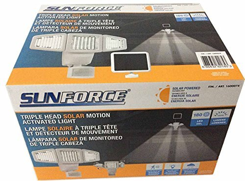 Detector Head - Sunforce Solar Triple Head Motion Activated Security Light 1500 Lumens