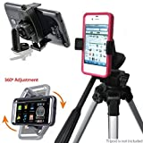ChargerCity Exclusive Apple iphone 6s Plus 6 Samsung Galaxy S6 Edge NOTE 5 4 LG G4 HTC ONE Nexus 5 XIAOMI MI5 MOTO X 360º Multi Angel Adjustment Tripod Adapter & Easy-Adjust Smartphone Holder (Phone & Tripod is not included with Purchase)
