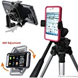 ChargerCity MegaGrab Easy-Adjust Smartphone Holder Mount & 360º Swivel Selfie Video Recording Camera Tripod Adapter for Apple iPhone 7 Plus 6S 6 SE Samsung Galaxy S7 Edge, Tripod not included