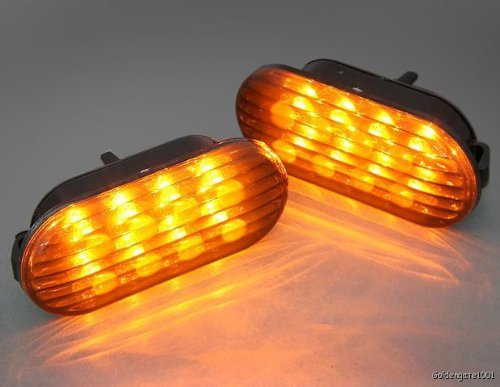 - Smoked Amber Led Side Marker Lights Pair For 99 to 04 Golf Jetta Bora 98 to 04 Passat B5 B5.5