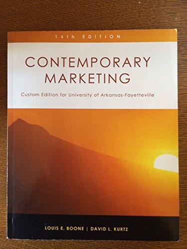 Contemporary Marketing (Custom) Univ Arkansas Fayet (P)