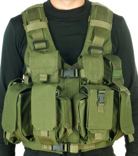 TV 7711 - Tactical Combatant Vest By MAROM DOLPHIN Designed for Carrying Heavy Loads and for Quick Draw of All Equipment Used By the IDF by ZFI-INC