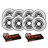 Revision Wheels Inline Roller Hockey Variant 76/80mm 76A Hilo + Bones Bearings