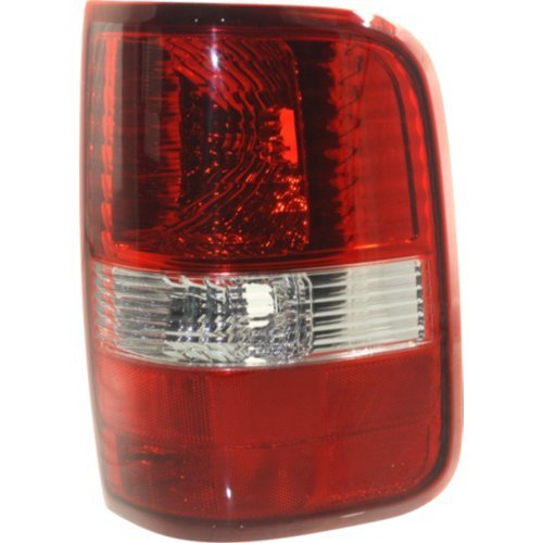 Tail Light Compatible with FORD F-150 2004-2008 RH Lens and Housing Red/Clear Styleside New Body - Xtr Clear Lens