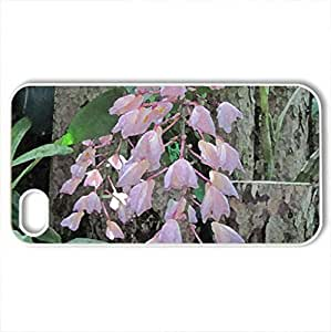 Attractive Flowers at the garden 56 - Case Cover for iPhone 4 and 4s (Flowers Series, Watercolor style, White)