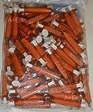 BAXA ExactaMed Oral Liquid Medication Syringe 5cc/5mL 100/PK Amber Medicine Dose Dispenser With Cap Exacta-Med BAXTER Comar Latex Free