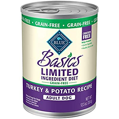 Blue Buffalo Basics Limited Ingredient Diet, Grain Free Natural Adult Wet Dog Food, 12.5 oz can (Pack of 12)
