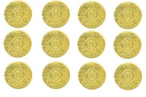 Cakesupplyshop Sjk897a - 500 Superior Quality Gold Foil Medallion Sticker Envelope Seals ()
