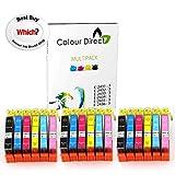 Colour Direct 18 XL High Capacity Compatible Ink Cartridges Replacement For Epson Expression Photo XP-55 XP-750 XP-760 XP-850 XP-860 XP-950 XP-960 Printers. 3 Sets 24XL