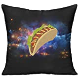 Huajsu Cartoon Mexican Taco 18x18 Inch Throw Pillow Standard Form Insert - Machine Washable